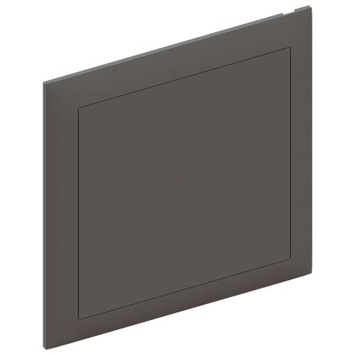Push-on cover with diagonal support option, RAL 7012