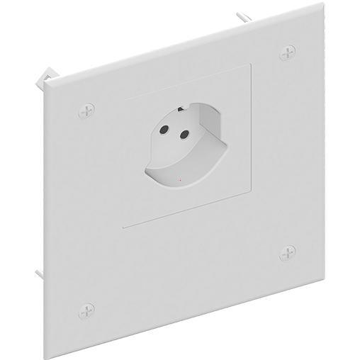 deckel mit steckdose typ 15 ral 9010 deckel zu up abzweigdosen betonbau elektro. Black Bedroom Furniture Sets. Home Design Ideas