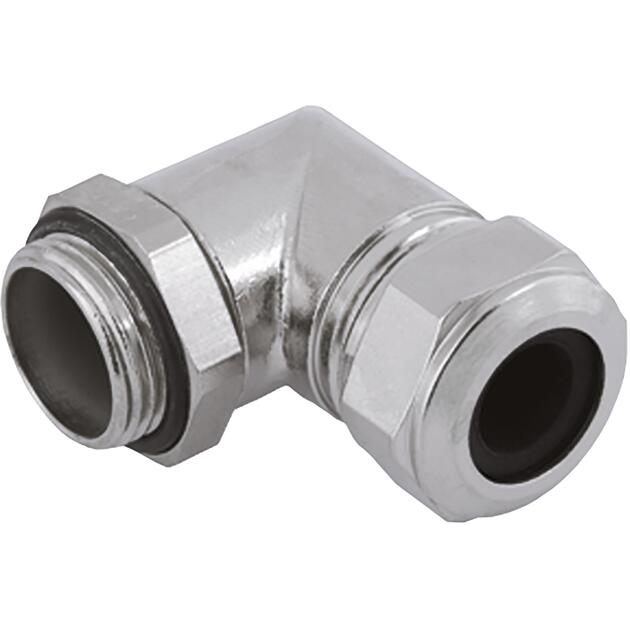 Cable glands Progress® nickel-plated brass elbow 90º