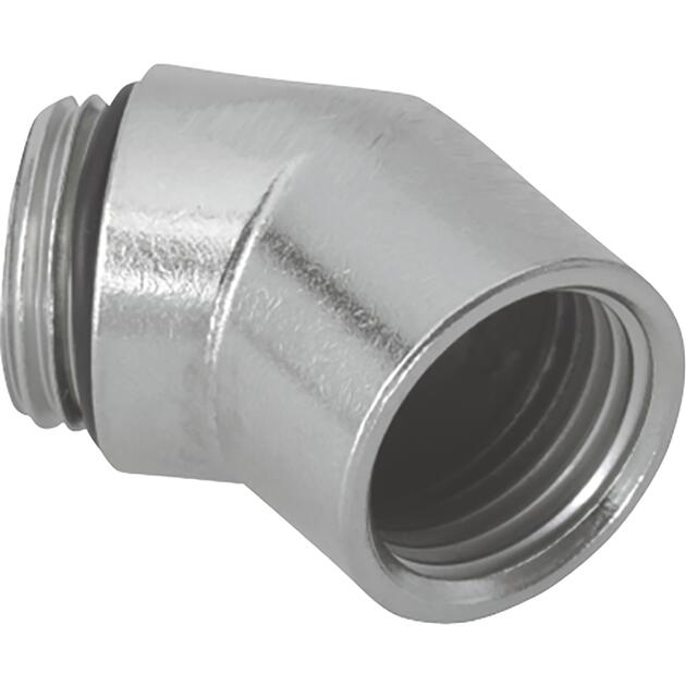 Elbows 45° nickel-plated brass with internal and external thread
